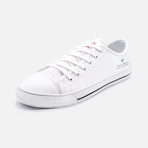 FAIS - Unisex Low Top Canvas Shoes - Ankle Logo