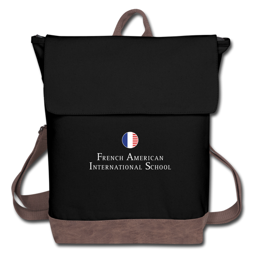 FAIS - Canvas Backpack - black/brown