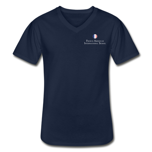 FAIS - Men's V-Neck T-Shirt - navy