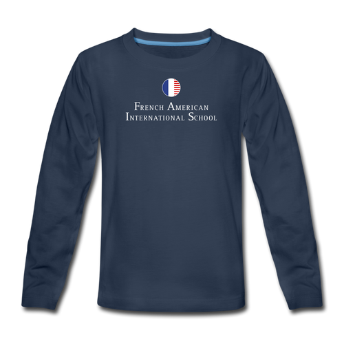 FAIS - Kids' Premium Long Sleeve T-Shirt - navy