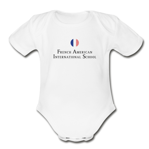 FAIS - Organic Short Sleeve Baby Bodysuit (BACKUP white) - white