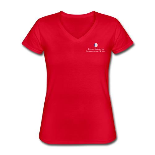FAIS - Women's V-Neck T-Shirt - red