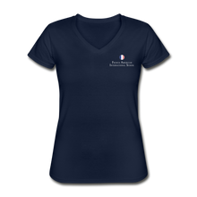 Load image into Gallery viewer, FAIS - Women's V-Neck T-Shirt - navy