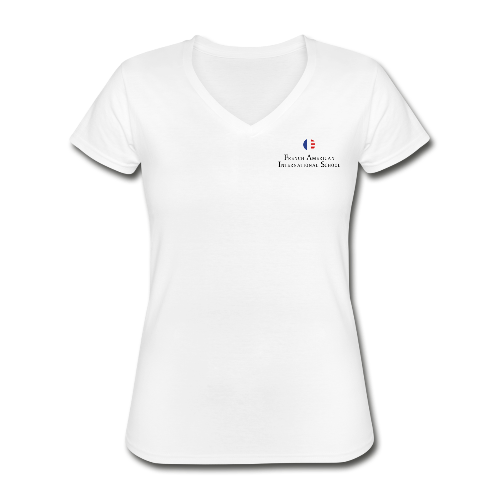 FAIS - Women's V-Neck T-Shirt (BACKUP white) - white