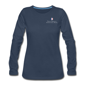 FAIS - Women's Premium Long Sleeve T-Shirt - navy