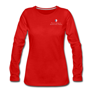 FAIS - Women's Premium Long Sleeve T-Shirt - red