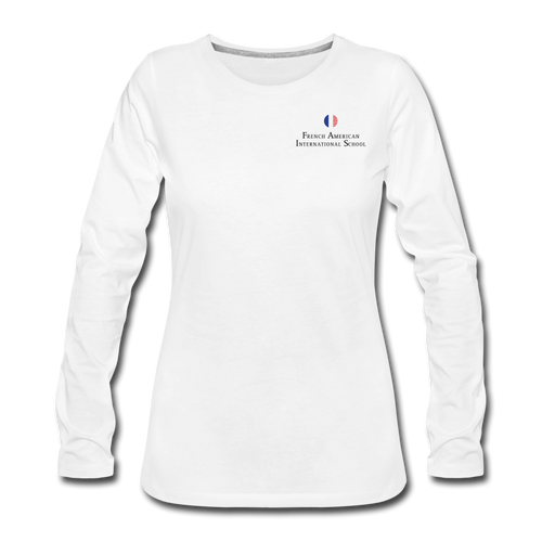 FAIS - Women's Premium Long Sleeve T-Shirt (BACKUP white) - white