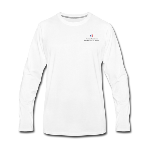 FAIS - Men's Premium Long Sleeve T-Shirt (BACKUP white) - white