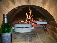 Wood fired oven cooking