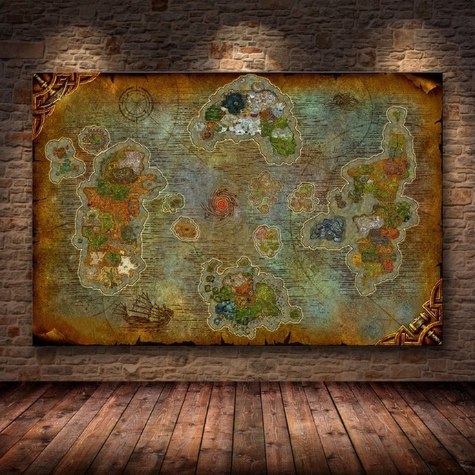 Mapa completo de Azeroth - World of Warcraft