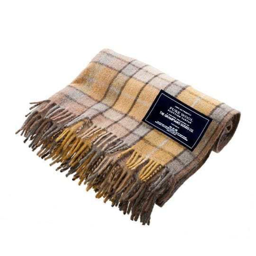 Grampions Goods Co recycled wool tartan blankets - Gold