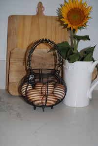 Egg basket - carbon