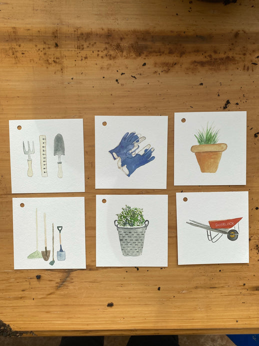 The Garden Collection - set of 6 gift tags