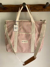 Load image into Gallery viewer, Cooler tote bag - Pink Stripe