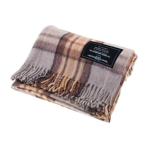 Grampions Goods Co recycled wool tartan blanket - Winter