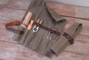 Waxed Canvas Utility Roll - tools not included