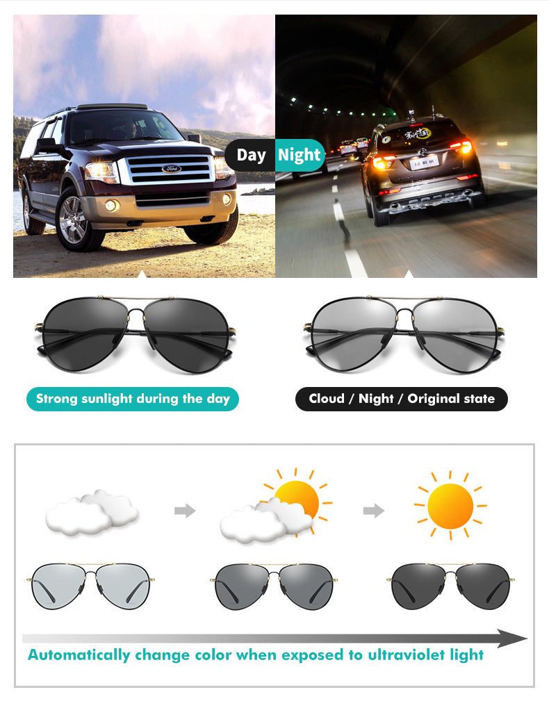 Photochromex sunglasses technology features