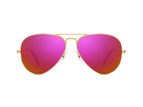 Chromex Gold Aviator Mirror Sunglasses