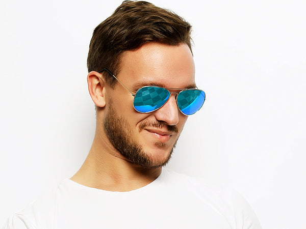 Chromex Aviator Black + Green Mirror Sunglasses - PhotoChromeX
