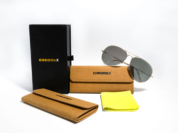 Chromex Sunglasses Casing and Cleaning Cloth - PhotoChromex