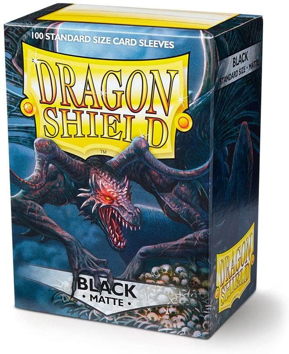 Dragon Shield Matte - Black Standard Size 100 ct