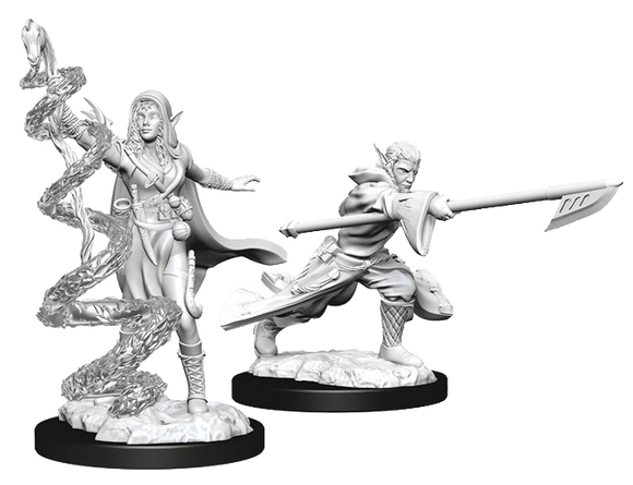Unpainted Magic Miniatures - Joraga Warcaller &  Joraga Treespeaker
