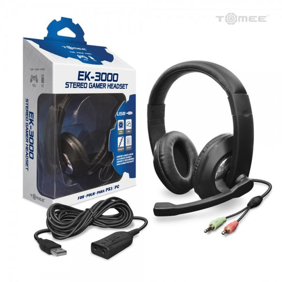 EK-3000 Stereo Gamer HeadSet for PS3 ® - Tomee