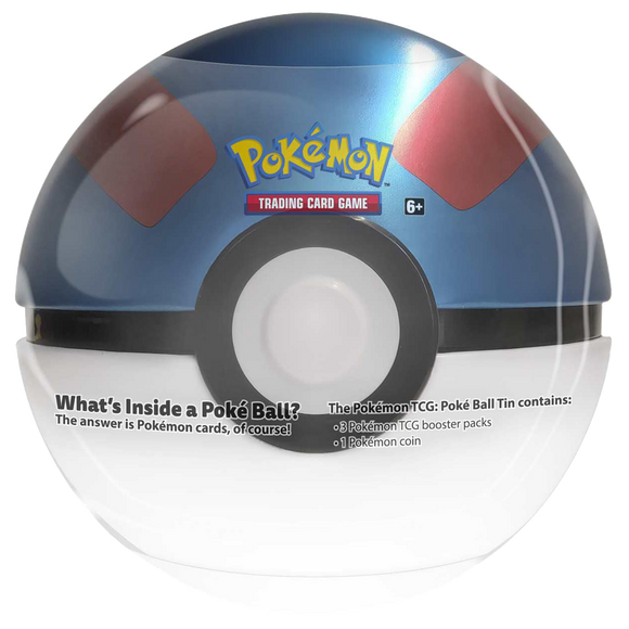 ◄ PREORDER ► Pokemon: 2021 Pokeball Tin - Great Ball ◄ PREORDER ►