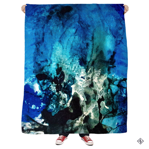 Blue Collide Blanket - Artful Rose x Find Your Pulse