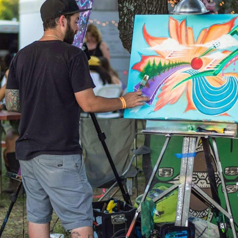 Dixon Stovall live painting