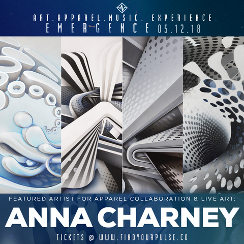 Featured Artist: Anna Charney for Find Your Pulse: Emergence Apparel Launch