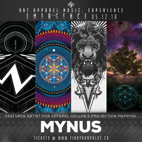 Featured Artist: Mynus for Find Your Pulse: Emergence Apparel Launch