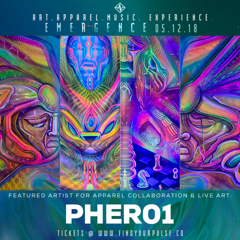 Featured Artist: Pher01 for Find Your Pulse: Emergence Apparel Launch