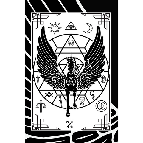 """Illumicorn Tarot"" Print by DSQISE"