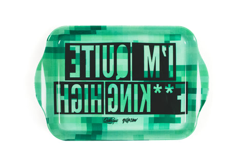 Green Pixel Jungle QFH Tray