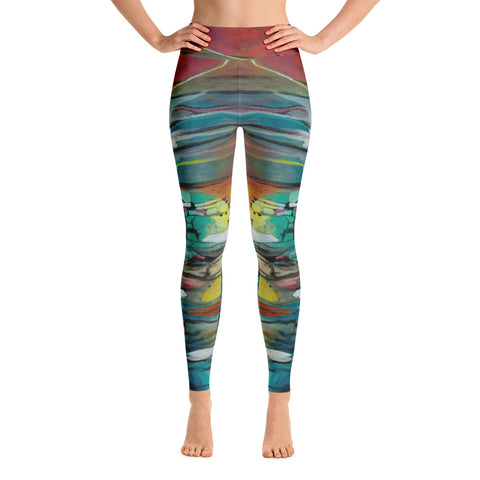 """Sunrise Of Your Mind"" Yoga Leggings"