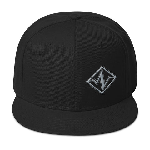 Pulse Icon Snapback Hat Black & Grey