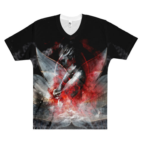 7DK Bloody Lotus Men's V-Neck T-Shirt