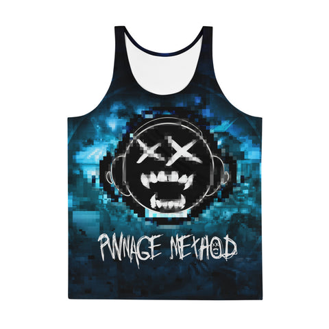 Pwnage Pixel Blue Men's Tank