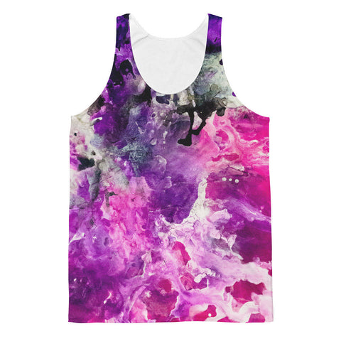 """Pink and Purple Life"" Tank Top by Artful Rose"