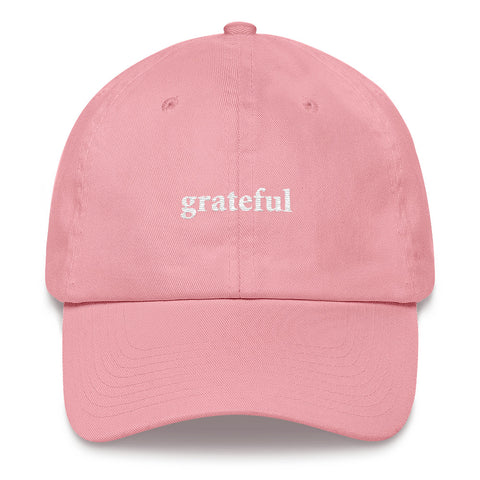 """Grateful Dad"" Hat Pink"
