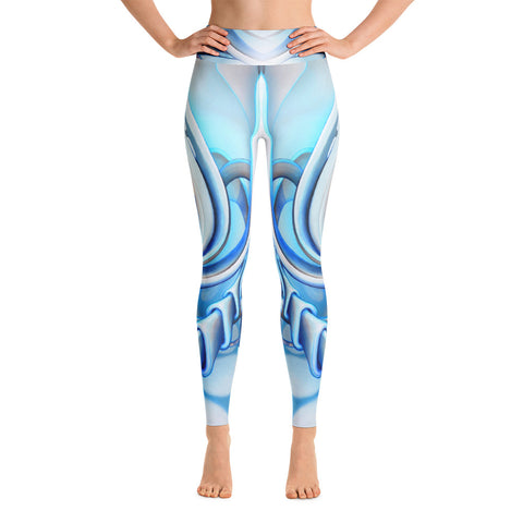 """Swivel Lightly"" Yoga leggings by Anna Charney"