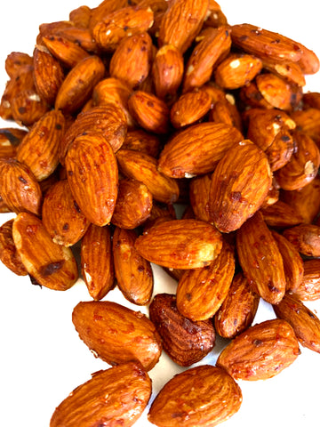 Garlic Sriracha Almonds