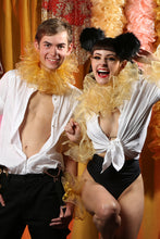 Load image into Gallery viewer, Gold  Luxury Organza Neck Ruff and cuff  Circus Costume