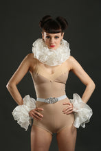 Load image into Gallery viewer, Ivory Silk Circus Costume Sets with Belt ruffle and cuffs