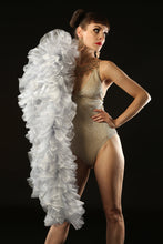 Load image into Gallery viewer, Silver Burlesque Organza Boa ~ vegan ~ cabaret and drag costume