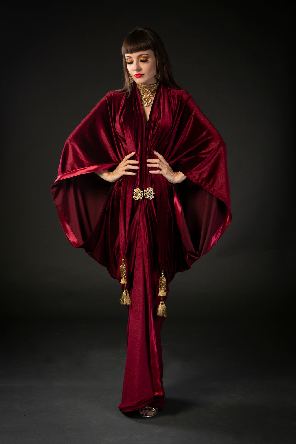 red_wine_burgundy_maroon_velvet_1920s_flapper_gatsby_dress_Talulah_Blue_Creations