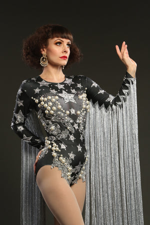 star fringe dance leotard festival fashion