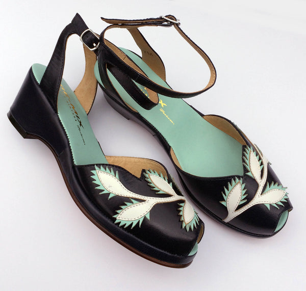 Flora, Wedges - Re-Mix Vintage Shoes