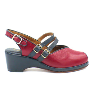 Twin Strap, Wedges - Re-Mix Vintage Shoes
